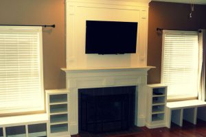 Installing a T.V. Via Custom Fireplace Mantel